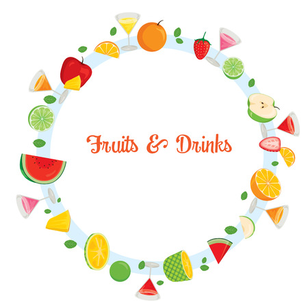 tropical drink: Fruits And Drinks On Circle Frame, Summer, Tropical Fruits, Healthy Eating, Food, Drink, Natural