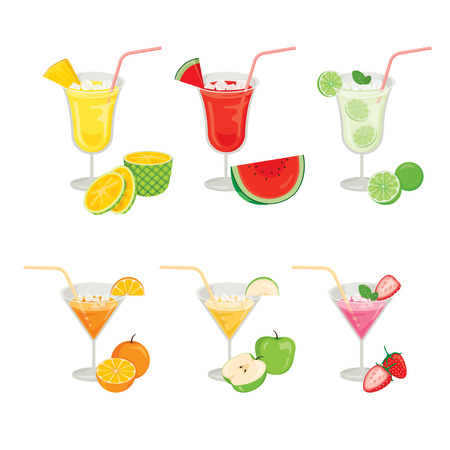 tropical drink: Glasses of Fruits and Cocktails, Summer, Tropical Fruits, Healthy Eating, Food, Drink, Natural