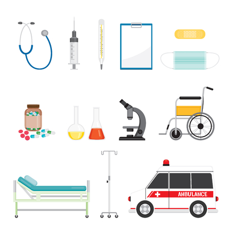 Medical Equipment Icons Set, Medical, Appliance, Tool, Hospital