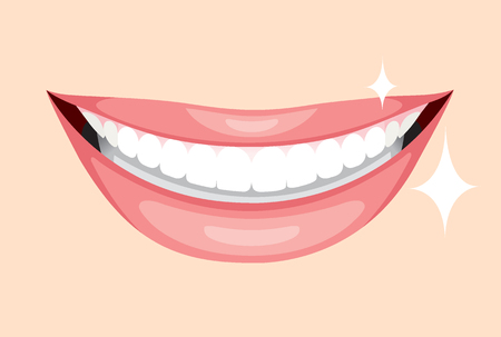 beautiful smile: Beautiful Mouth, Smile And Teeth, Medical, Dentistry, Hospital, Checkup, Patient, Hygiene, Healthy, Treatment Illustration