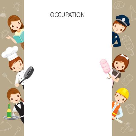 profesiones: Personas con diferentes ocupaciones fijaron para el cuadro y Profesión, Avatar, trabajador, Deber