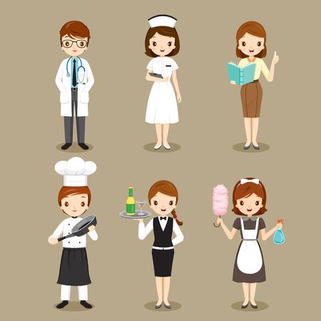profesiones: Personas con diferentes ocupaciones fijaron, profesión, Avatar, trabajador, Deber
