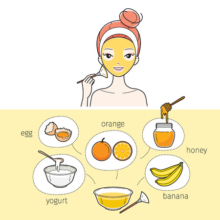 woman hygiene protection: Young Woman With Natural Facial Mask, Treatment, Beauty, Cosmetic, Makeup, Healthy, Lifestyle
