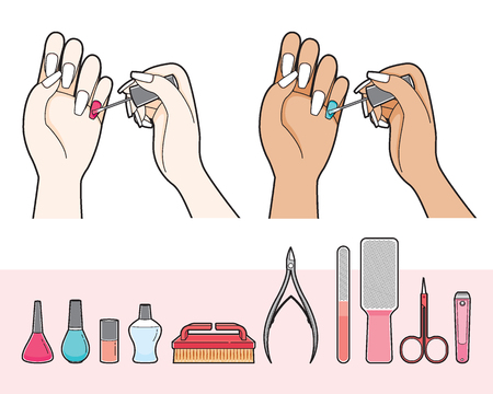 Manicure And Equipment For Nail Salon, Cosmetics, Beauty, Fashion, Lifestyle