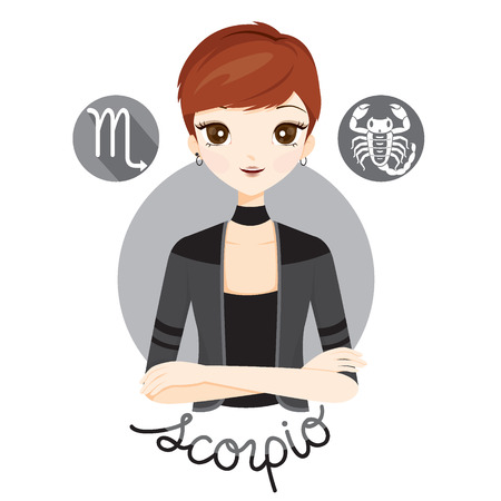 fortunetelling: Woman With Scorpio Zodiac Sign, Astrological, Constellation, Beauty, Female, Western, Fortunetelling, Lifestyle