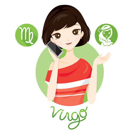 Woman With Virgo Zodiac Sign, Astrological, Constellation, Beauty, Female, Western, Fortunetelling, Lifestyle