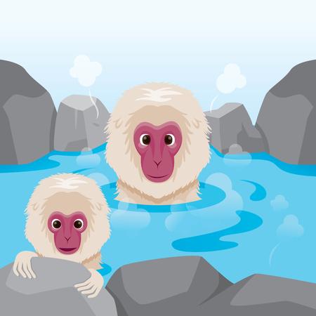 sauna: Snow Monkey In Hot Spring, Bath, Onsen, Culture, Healthy, Season, Body