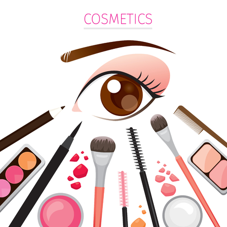 eyeliner: Close Up Eye With Makeup, Tools, Accessories, Equipment, Beauty, Facial, Fashion Illustration