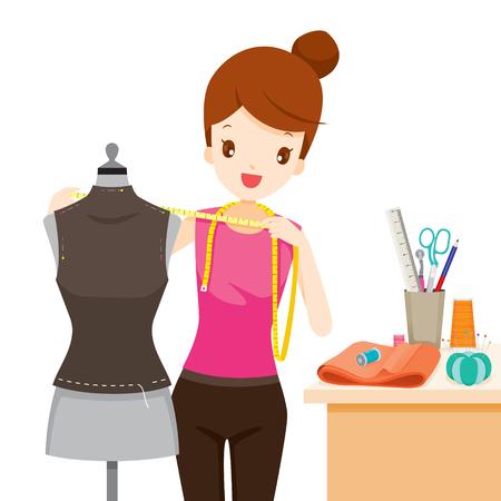 측정 마네킹 몸 모양, 바느질, 재단사, 수제, Dressmaking, 가정부, 취미, 직업, 직업 스톡 콘텐츠 - 76330115