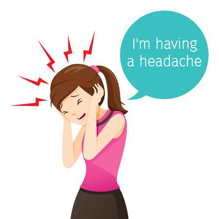 Working Woman Terrible Headache, Head, Brain, Internal Organs, Body, Physical, Sickness, Anatomy, Health