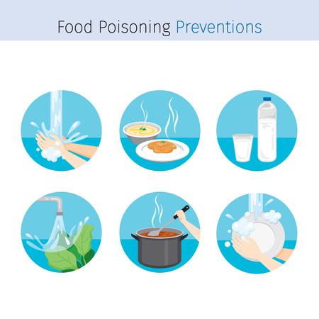 Prevención de Enfermedades Contagiosas y Set de Iconos Seguros, Salud y Saneamiento, Limpieza, Estómago, Órganos Internos, Cuerpo, Físico, Enfermedad, Anatomía, Salud