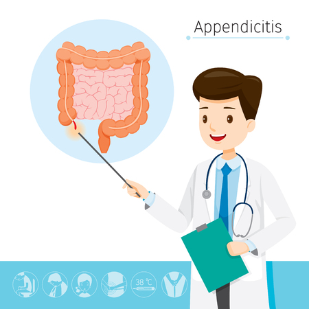 Doctor Describes About Cause To Appendicitis, Appendix, Internal Organs, Body, Physical, Sickness, Anatomy, Health