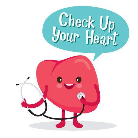 Heart, Human Internal Organ, Cartoon Character, Physiology, Structure, Medical Profession, Morphology, Healthy Illustration