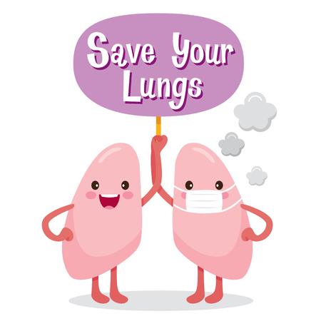 Lungs, Human Internal Organ, Cartoon Character, Physiology, Structure, Medical Profession, Morphology, Healthy