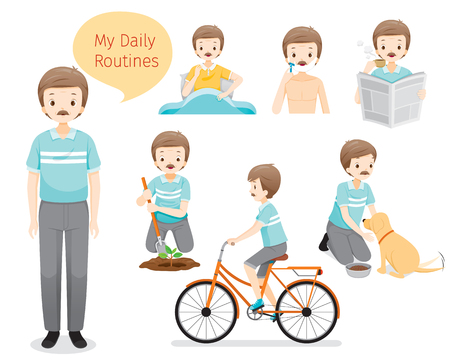 The Daily Routines Of Old Man, People, Activities, Habit, Lifestyle, Leisure, Hobby, Avocation