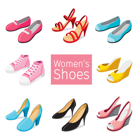 Collection Of Different Women's Shoes Pair, Footwear, Fashion, Objects