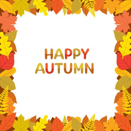 Autumn Leaves Border With Happy Autumn Texts, Season, Lettering, Frame, Border, Nature