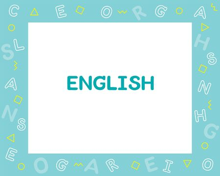 English Subject Frame, Design Of Alphabet On Frame, Teaching Media, Educational, Instruction