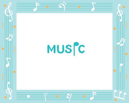 Music Subject Frame, Design Of Music Note On Frame, Teaching Media, Educational, Instruction