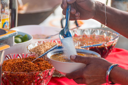hand, flavouring of thai