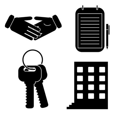 Set von Icons für Geschäfts- Vektorgrafik