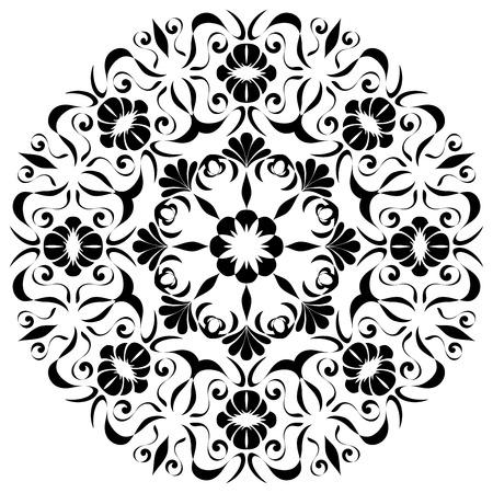 stile liberty: modello circolare art nouveau Vettoriali