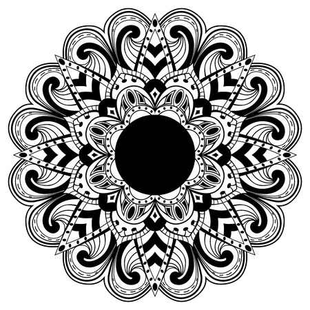 abstract mandala with black elements Vector