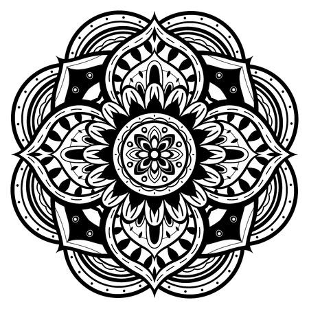mandala tattoo: black and white mandala Illustration