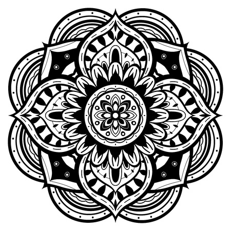 black and white mandala Illustration