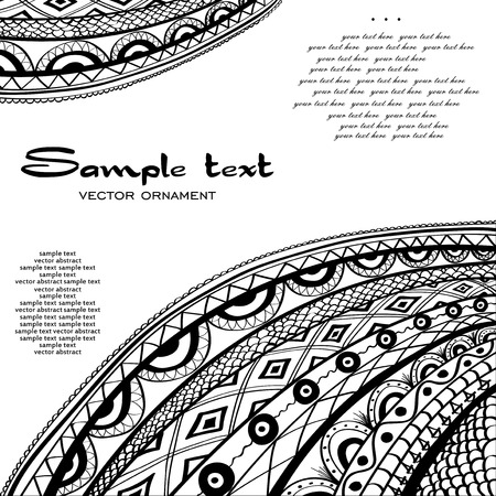 for example: ornamental, black, abstract background with example text for the book cover