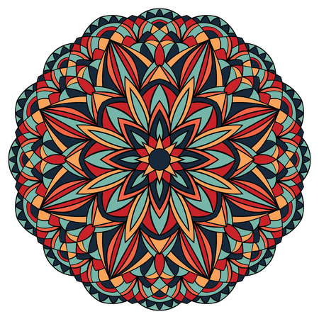 vetrate artistiche: luminoso, semplice, vettore, mandala geometrico. vetro colorato. Vettoriali