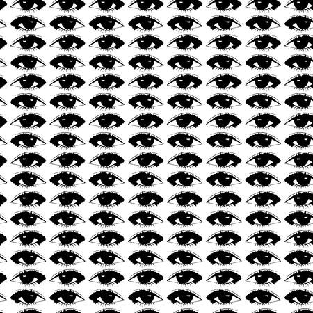 ojos negros: Vector ojos negros sobre un fondo blanco. Modelo incons�til con las impresiones de los ojos abiertos.