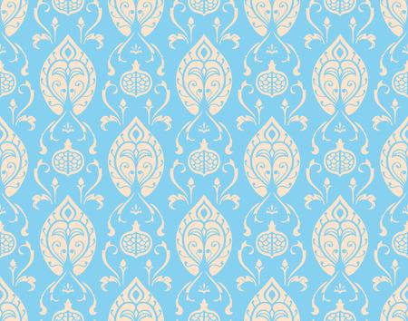 damascus: Oriental, light, vintage pattern with damascus.