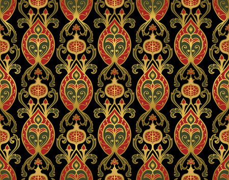 gobelin: Oriental, rich pattern with pomegranates.