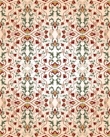 Medieval, floral ornament.