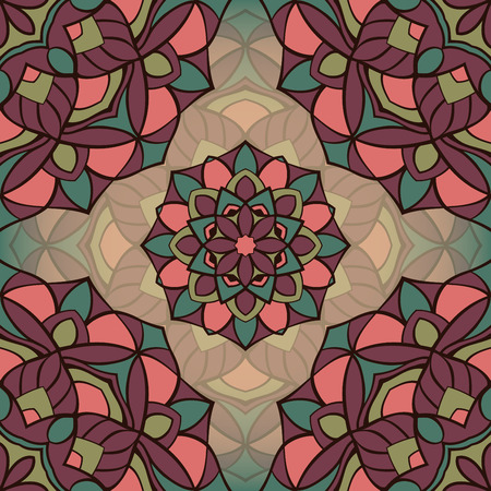 carpet: Seamless vector pattern of simple mandalas. Illustration