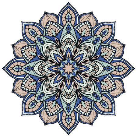 gothic architecture: Vector filigree mandala isolated on white background. The stylized elements of gothic architecture.