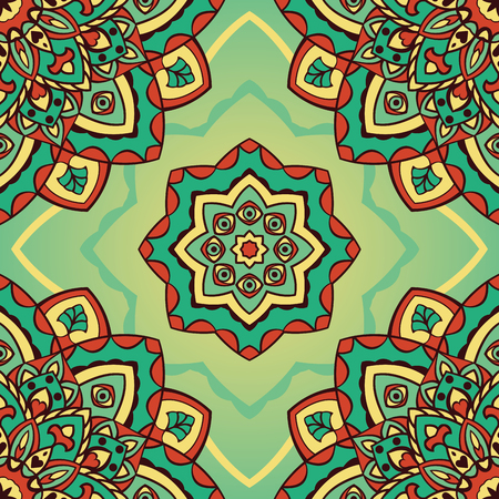 bedding: Vector seamless pattern of mandalas. Oriental vintage ornament with eyes. Template for textiles, wallpaper, shawls, carpets, pillowcase, bedding, wrapping paper.