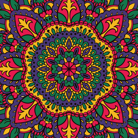 dvd cover: Childish bright pattern of mandalas. Vector colorful background. Template for textile, carpet, shawls, box, CD, DVD, cover, music plate.