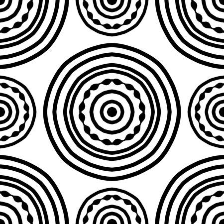 Seamless de simples mandala sur un fond blanc. ornement rond Oriental. Modèle pour les tapis, châle, papier peint, broderie.