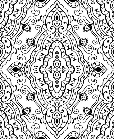 shawl: Oriental abstract ornament. Templates for carpet, textile, shawl and any surface. Illustration