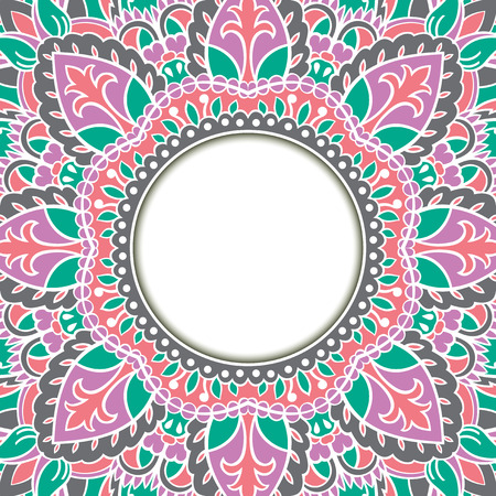 dvd cover: Oriental ornamental frame. Background with filigree ornaments and place for text. Vector card. Book cover, vinyl cover, CD, DVD cover.