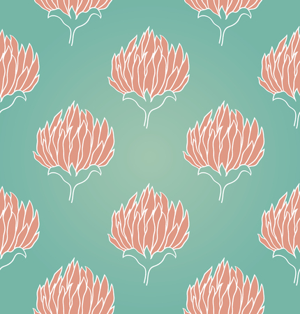 seamless clover: Seamless background with flowers of clover. Vector pattern.