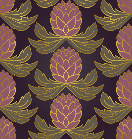 vegetal: Seamless purple background with lilac flowers. floral  pattern. Template for textile, wallpaper, carpet, wrap.