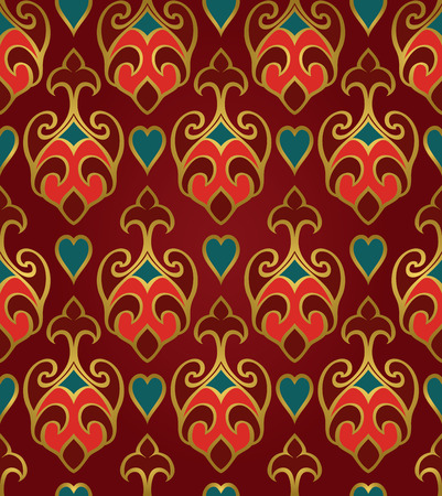 rich wallpaper: Oriental abstract ornament. Template for carpet, wallpaper, textile and any surface. Seamless rich pattern. Illustration