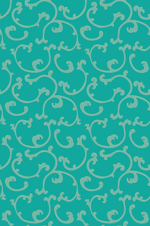 oriental rug: Oriental abstract ornament. Template for wallpaper, carpet, textile and any surface. Seamless turquoise pattern.
