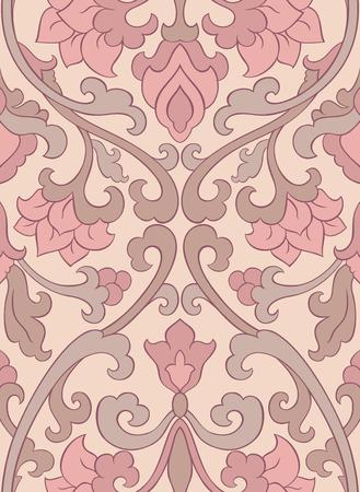 装飾用の花のパターン。パステル カラーの繊細な飾り。壁紙、テキスタイル、ショール、カーペット、任意の表面のテンプレートです。