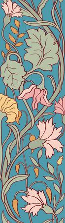 Colorful floral pattern. Template for wallpaper, textile, linen, carpet.