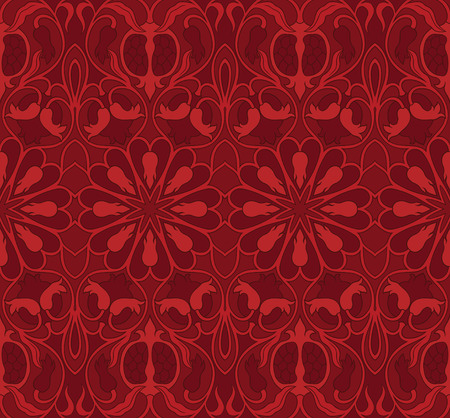 byzantine: Ornamental floral pattern. Colorful  background with pomegranates.  Template for textile, carpet, wallpaper, shawl.