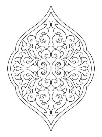 카펫, 벽지, 섬유 및 흰색 배경에 어떤 서피스 벡터 패턴에 대 한 디자인 서식 파일에 대 한 추상 메달.